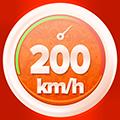 >200 km/h la ieșire