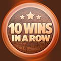 10 câștiguri în lanț