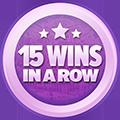 15 câștiguri în lanț