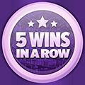 5 câștiguri în lanț