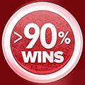 Câștiguri > 90%